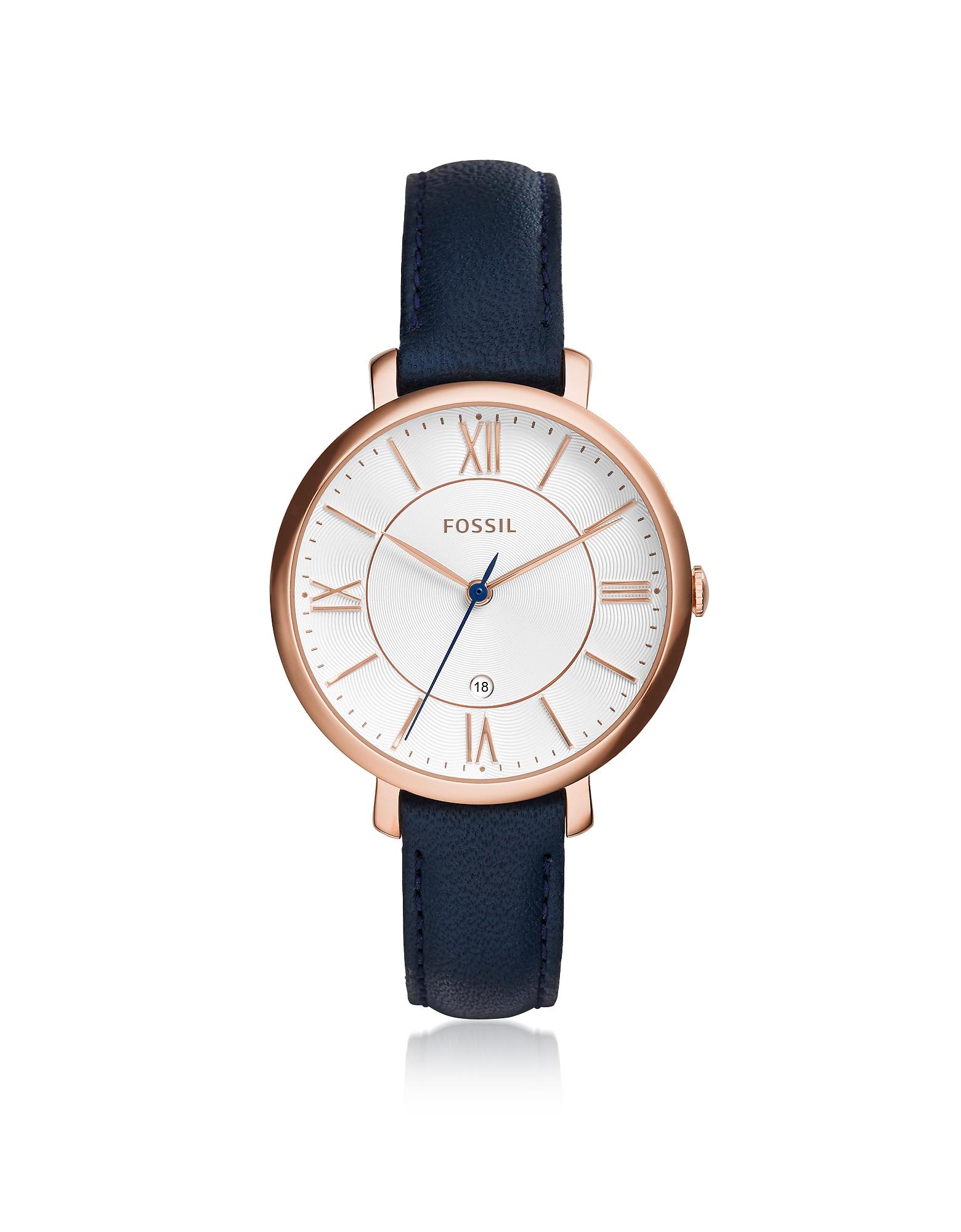Jacqueline Blue Leather Women's Watch
