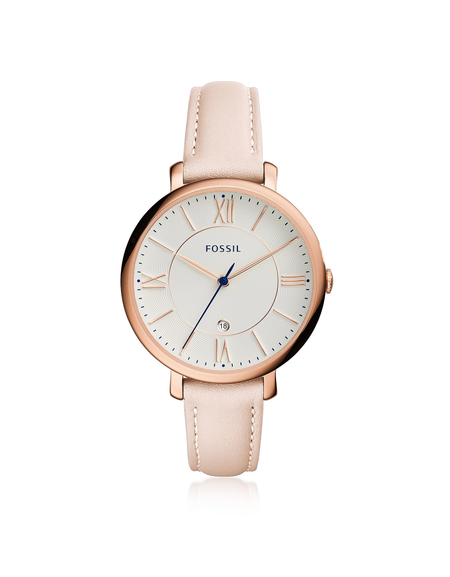 Jacqueline Blush Leather Women's Watch