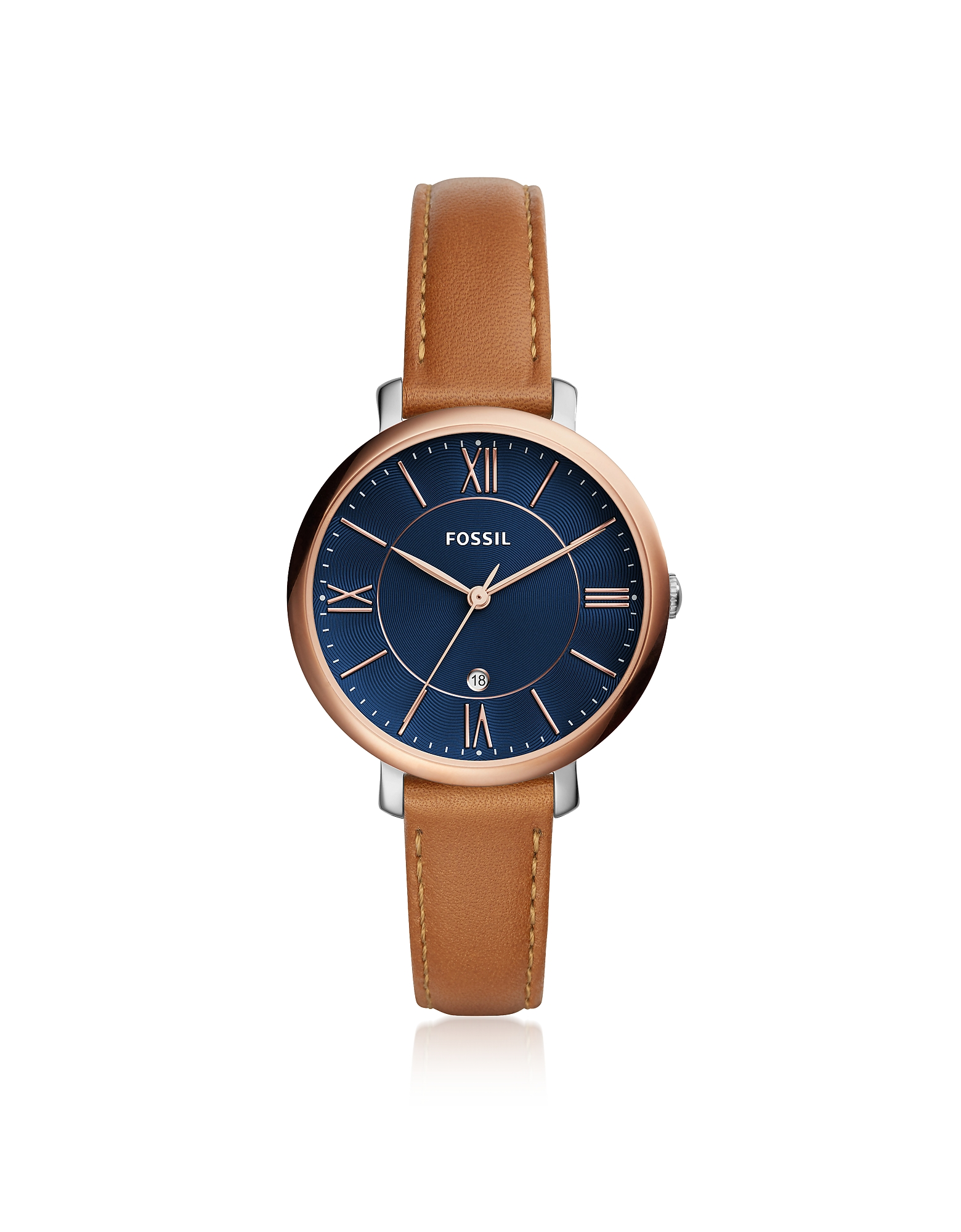 Fossil Women's Watches, Jacqueline Three-Hand Date Luggage Women's Watch