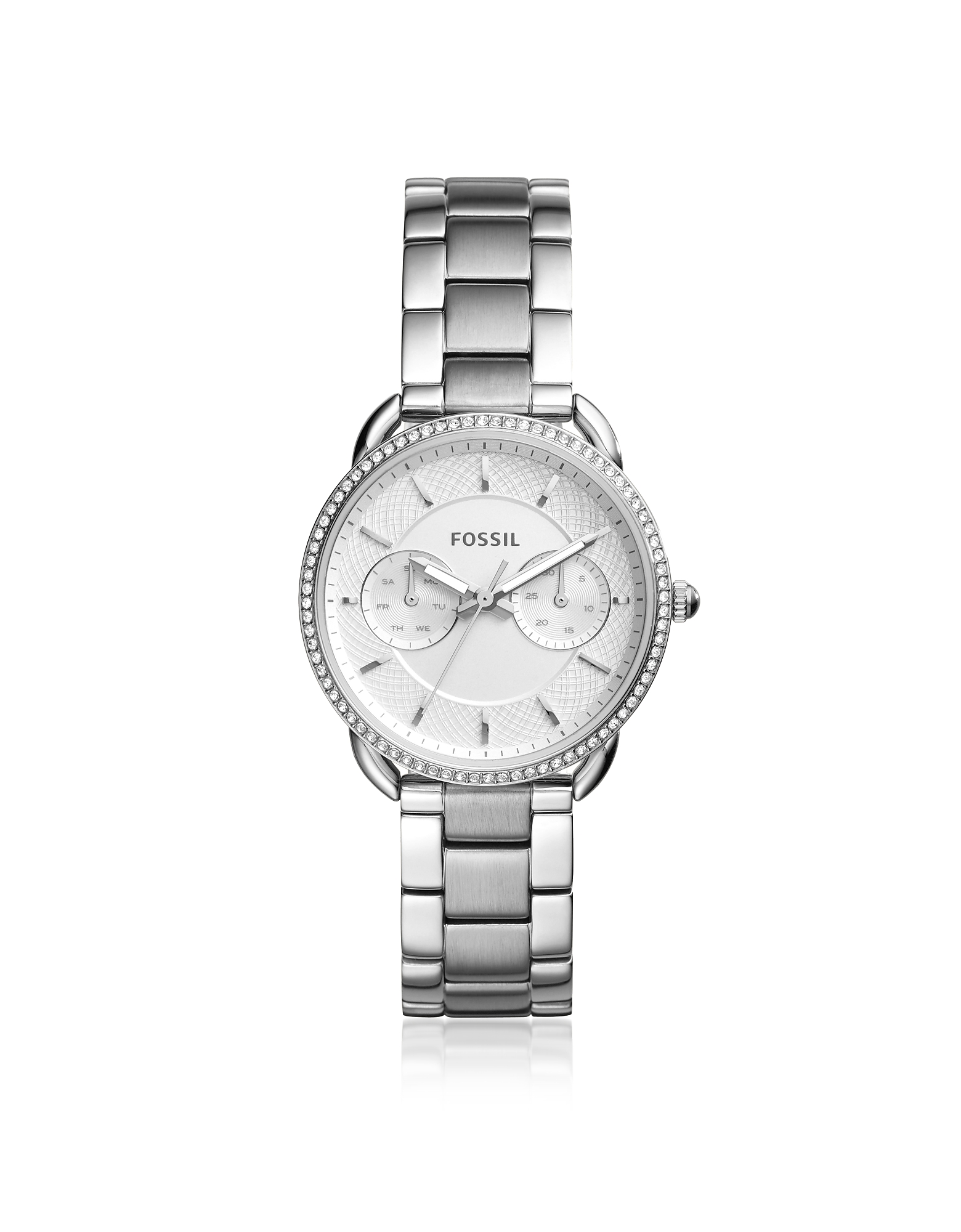 Fossil Women's Watches, Tailor Multifunction Stainless Steel Crystal Watch