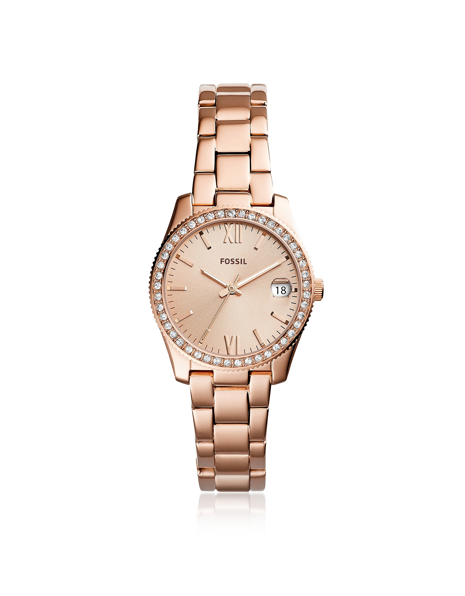 Scarlette Three-Hand Date Rose Tone Women's Watch, Rose gold