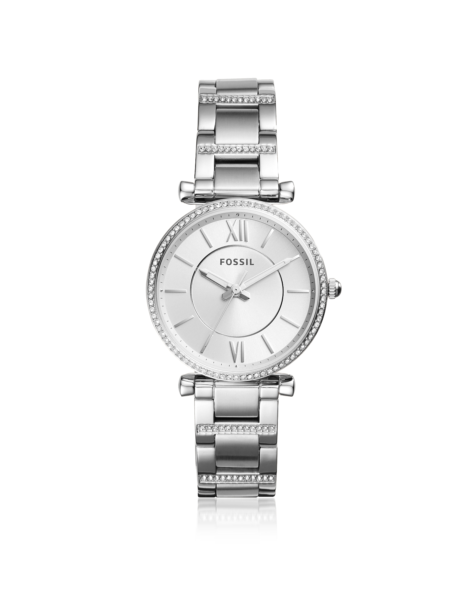 Fossil Women's Watches, Carlie Three-Hand Stainless Steel Watch