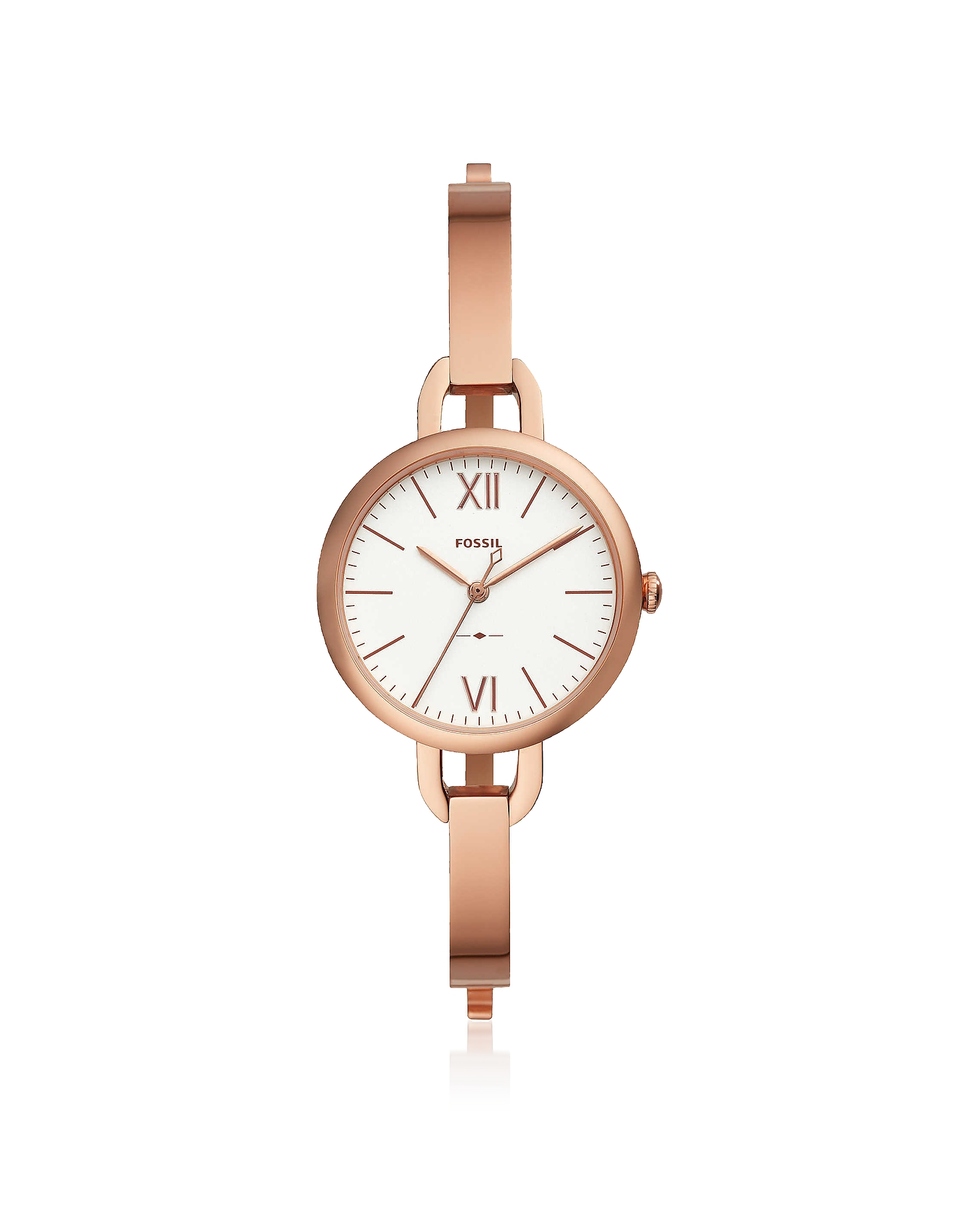 Annette Three-Hand Rose Tone Stainless Steel Watch