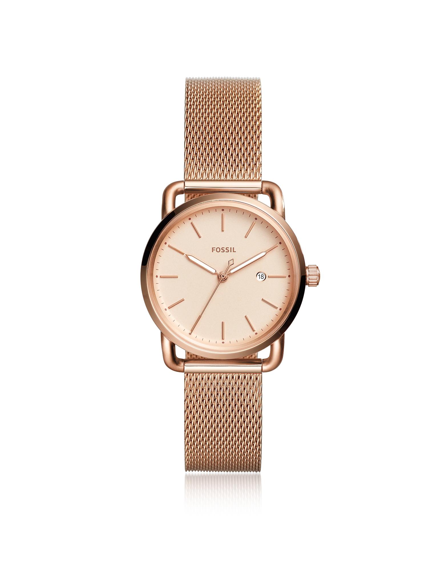The Commuter Three Hand Date Rose Tone Women's Watch