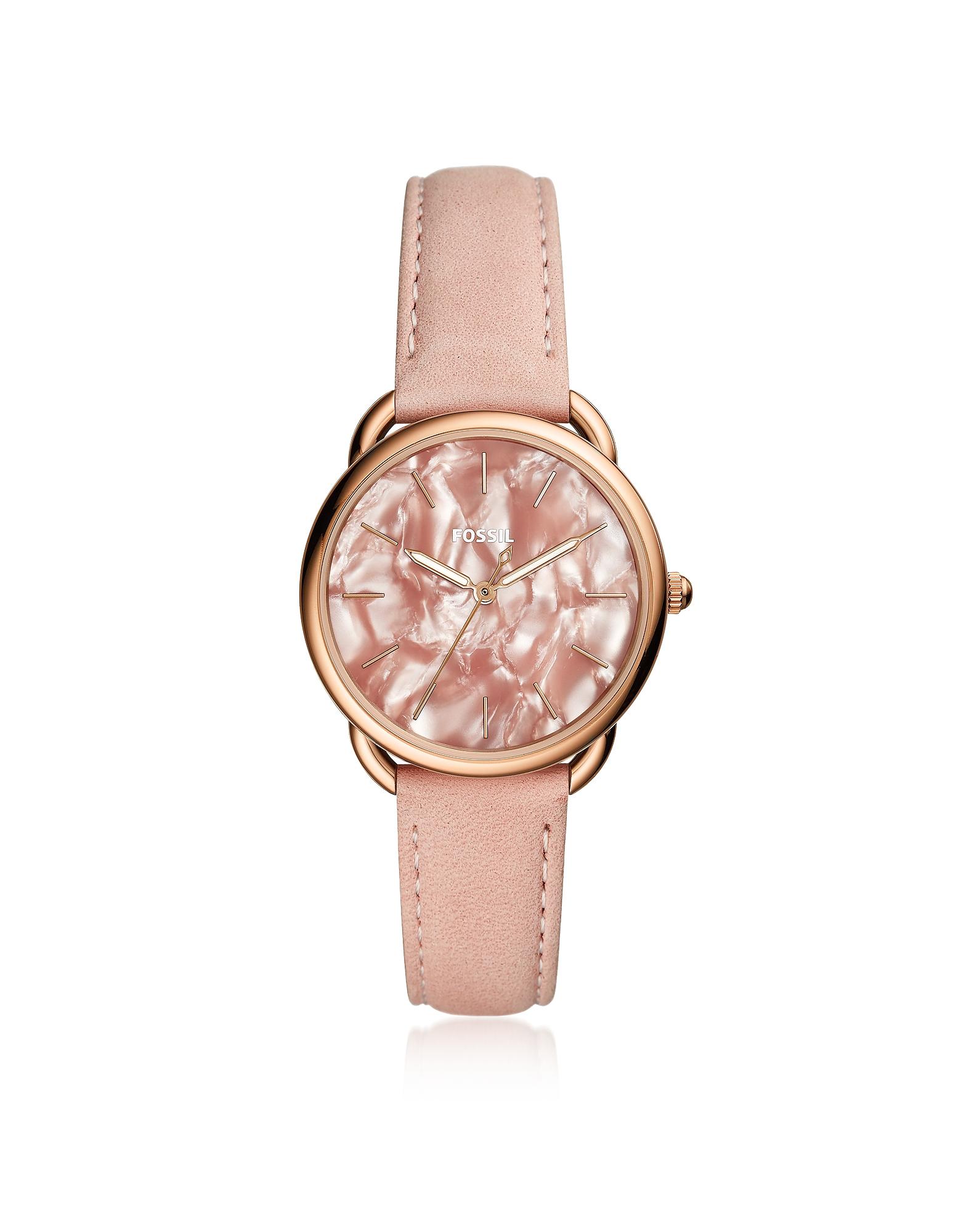 Tailor - Женские Трехстрелочные Часы Светло-Розового Оттенка Fossil