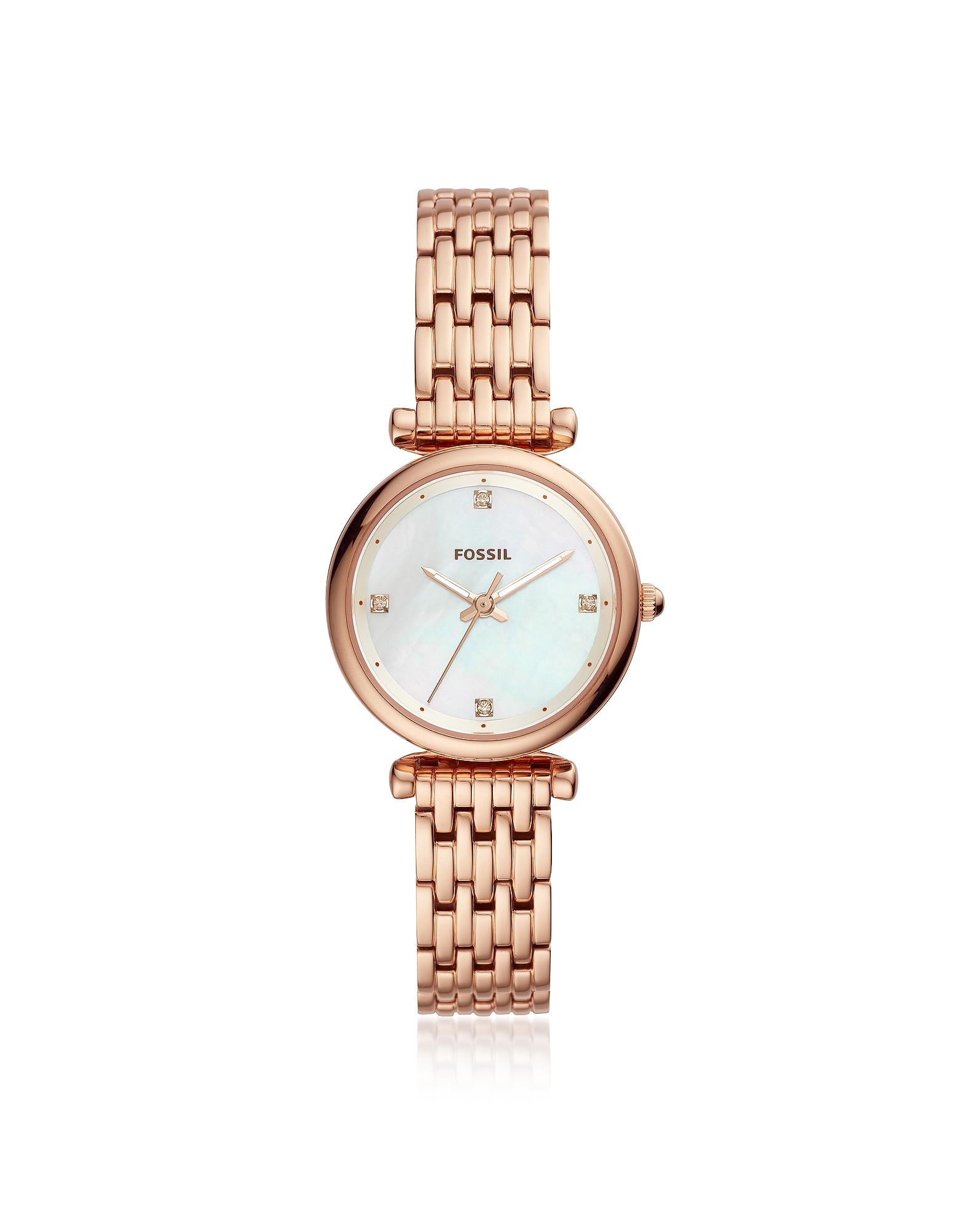 Carlie Mini Three Hand Rose Tone Women's Watch