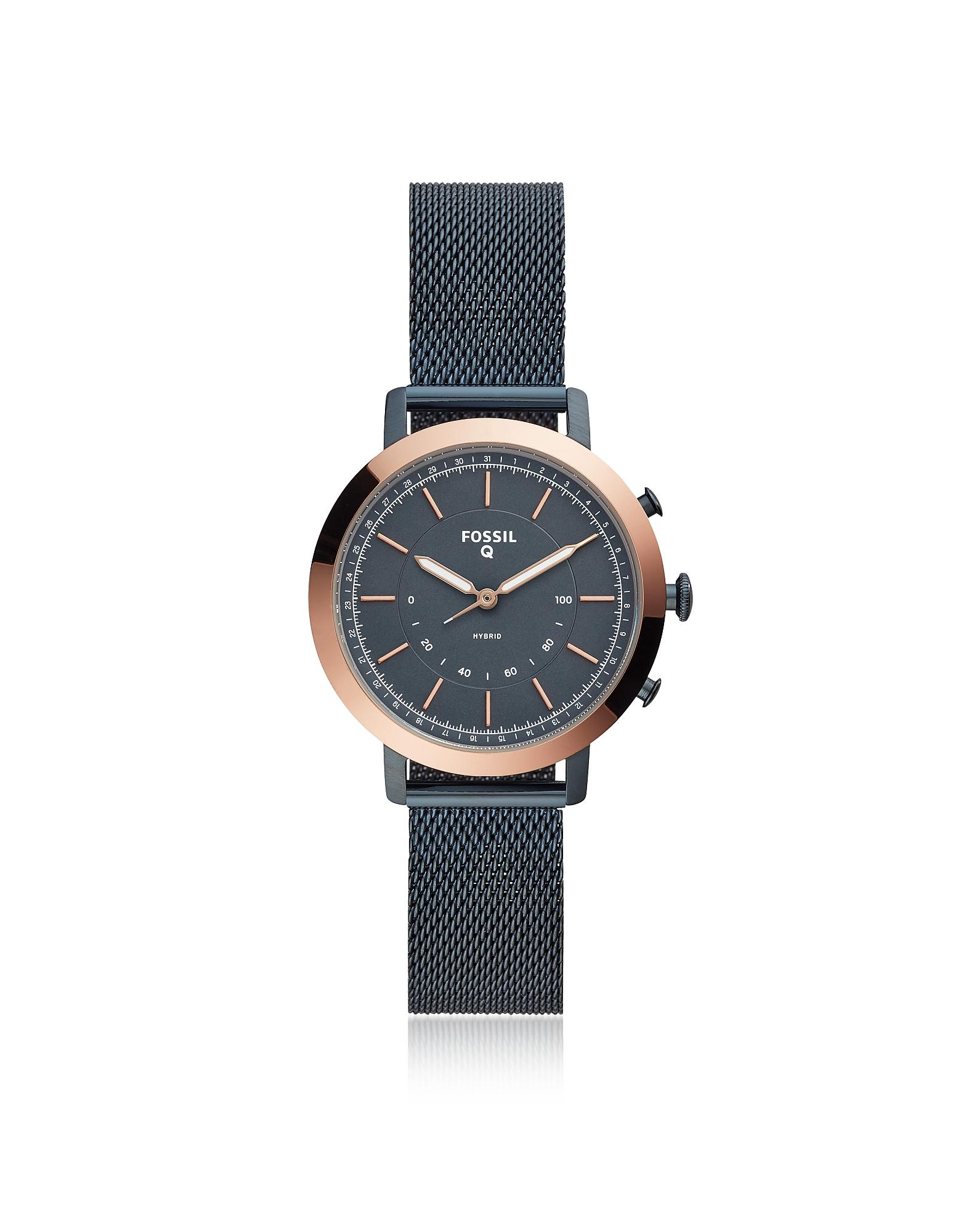 Hybrid Smartwatch - Q Neely Navy Mesh Women's Smartwatch