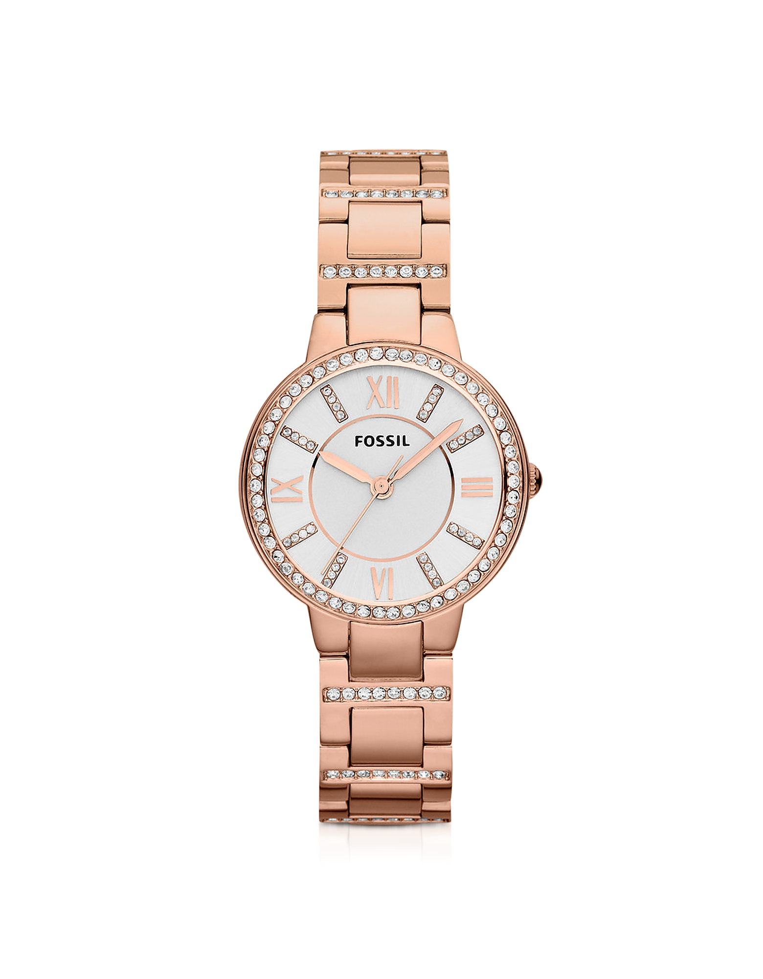 Fossil Women's Watches, Virginia Three Hand Rose Golden Stainless Steel Women's Watch
