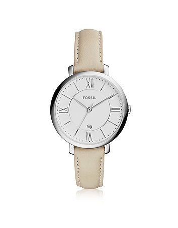 Fossil - Jacqueline Stainless Steel Women's Watch w/Leather Band