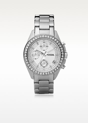Decker Ladies Stainless Steel Watch - Fossil