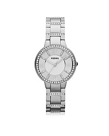 Virginia Stainless Steel Women's Watch - Fossil