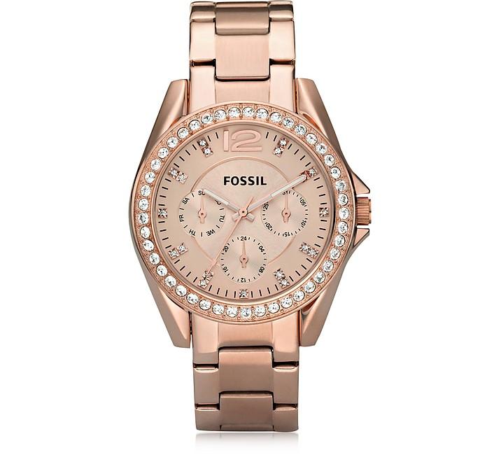 Riley Stainless Steel Women's Watch - Fossil