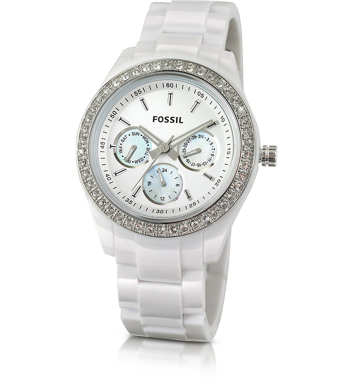 White Crystal Watch - Fossil