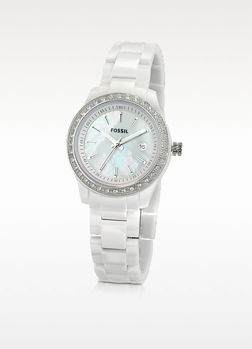 Slim White Watch - Fossil