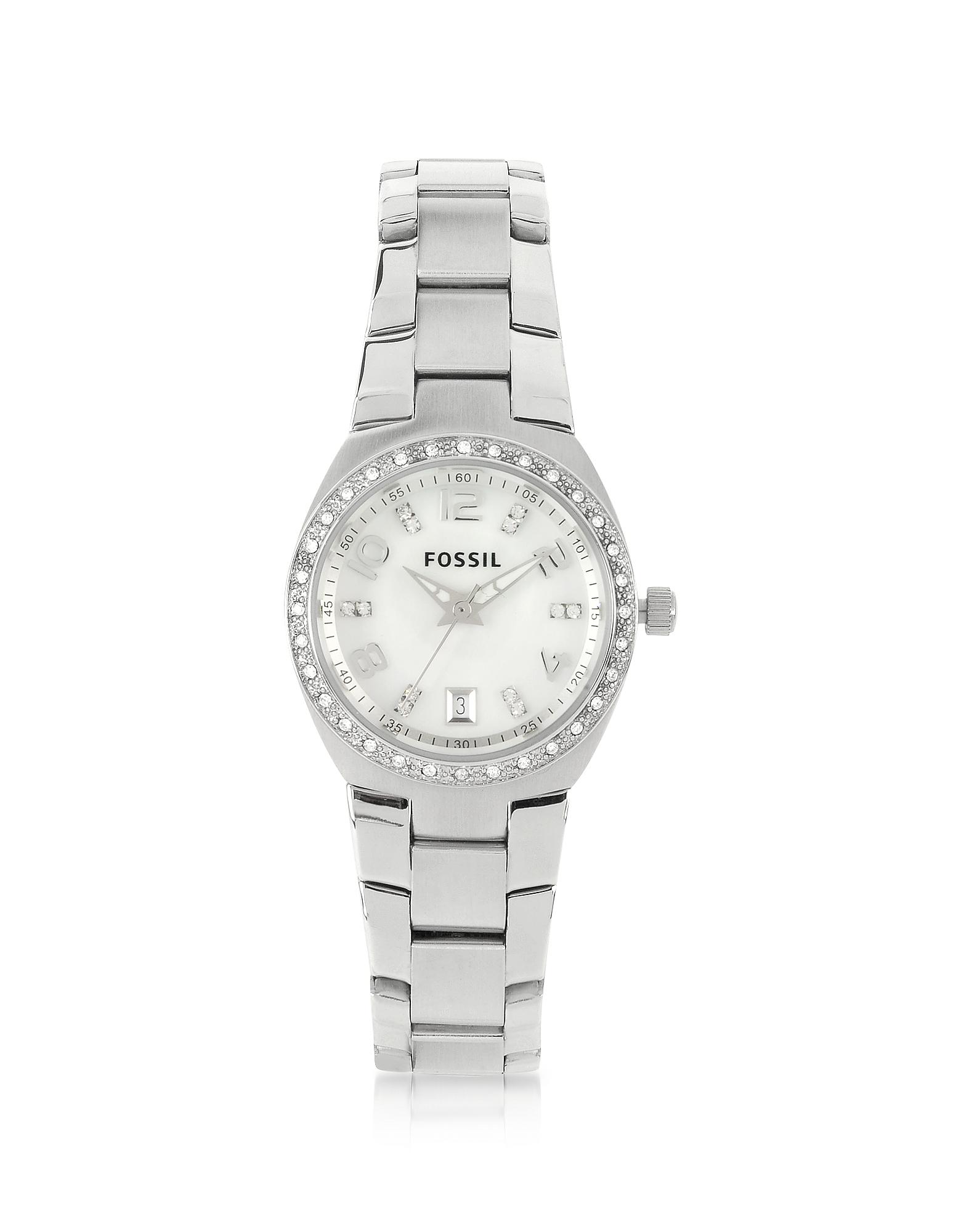 Фото Женские Часы из Нержавеющей Стали с Кристаллами. Купить с доставкой