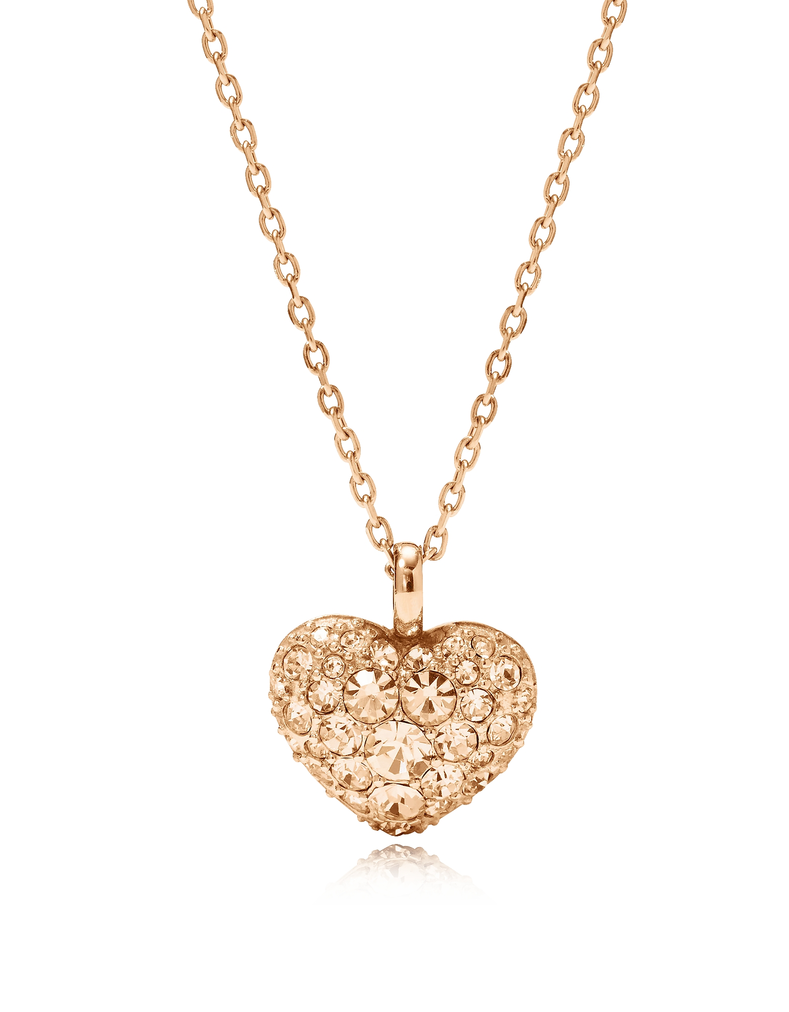 Glitz Heart Pendant Women's Necklace