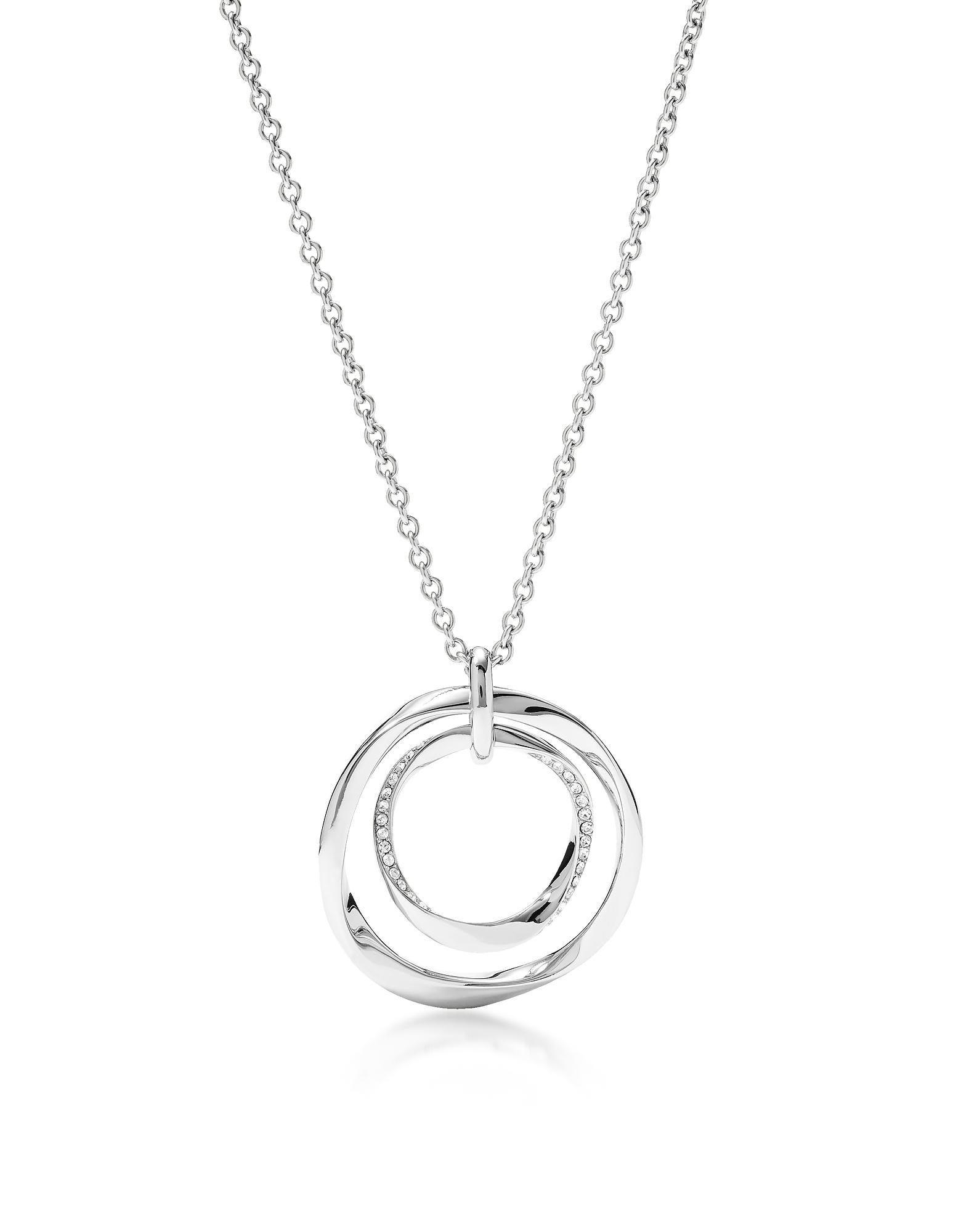 Fossil Necklaces, Long Twist Pendant Women's Necklace