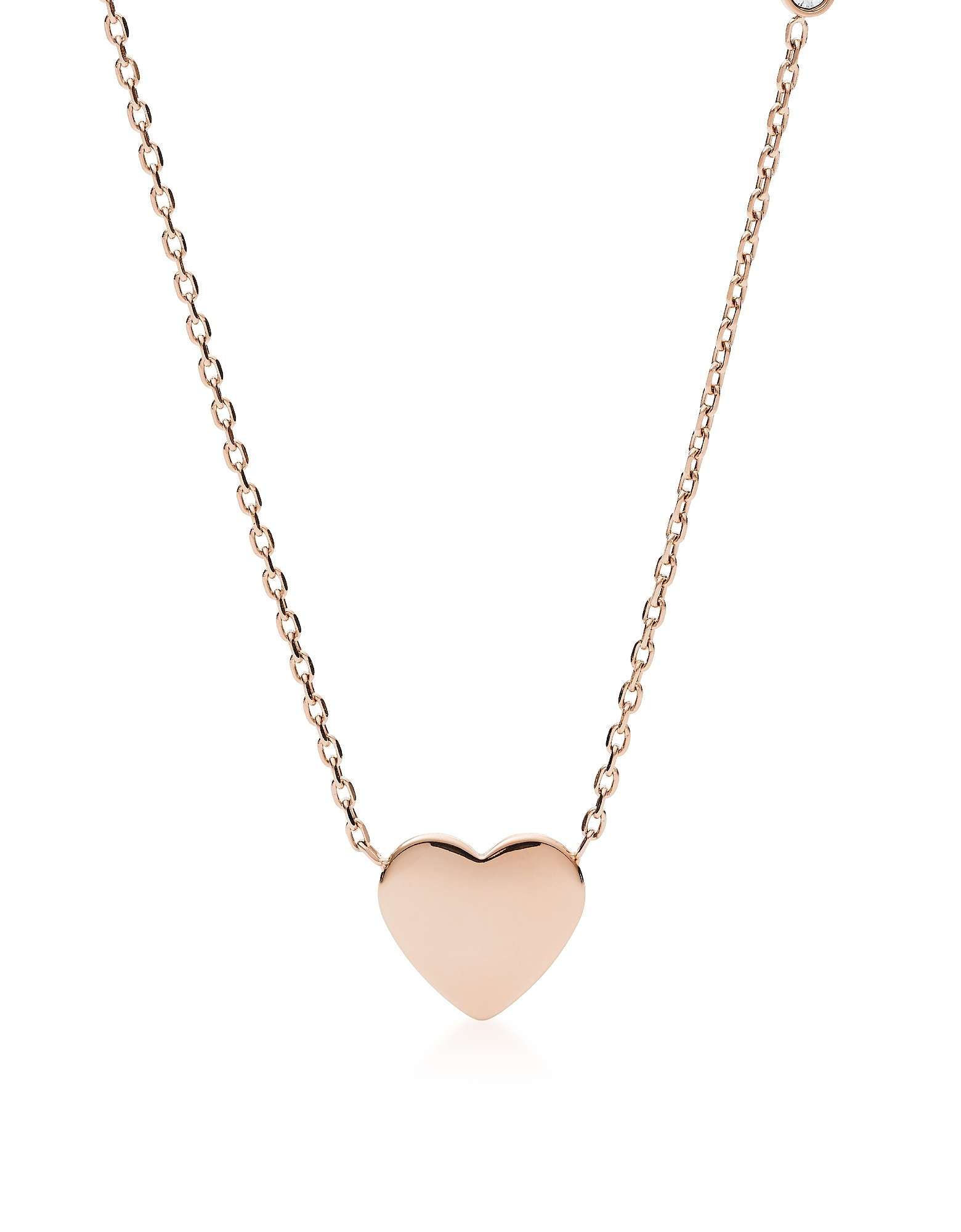 Heart Rose Gold Tone Women's Necklace