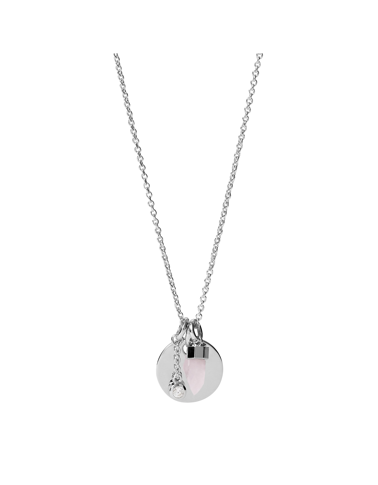 Fossil Designer Necklaces, Sterling Silver 925 Sterling Silver Women's Necklace