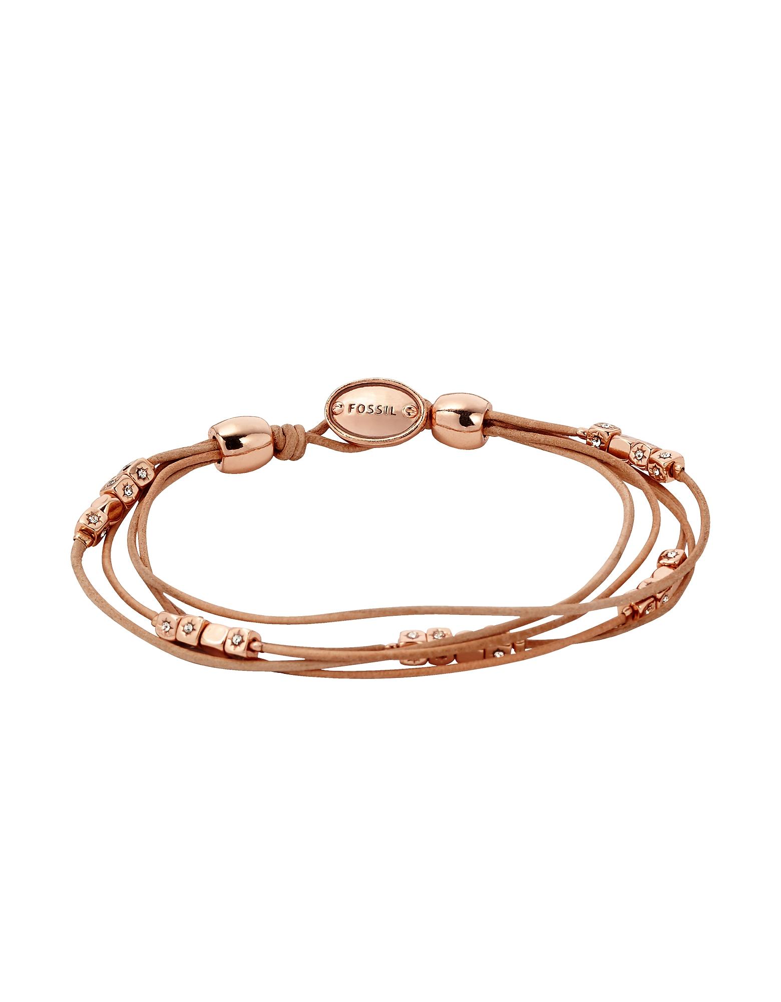 Fossil Bracelets, Tan Multi-Strand Wrist Wrap Women's Bracelet
