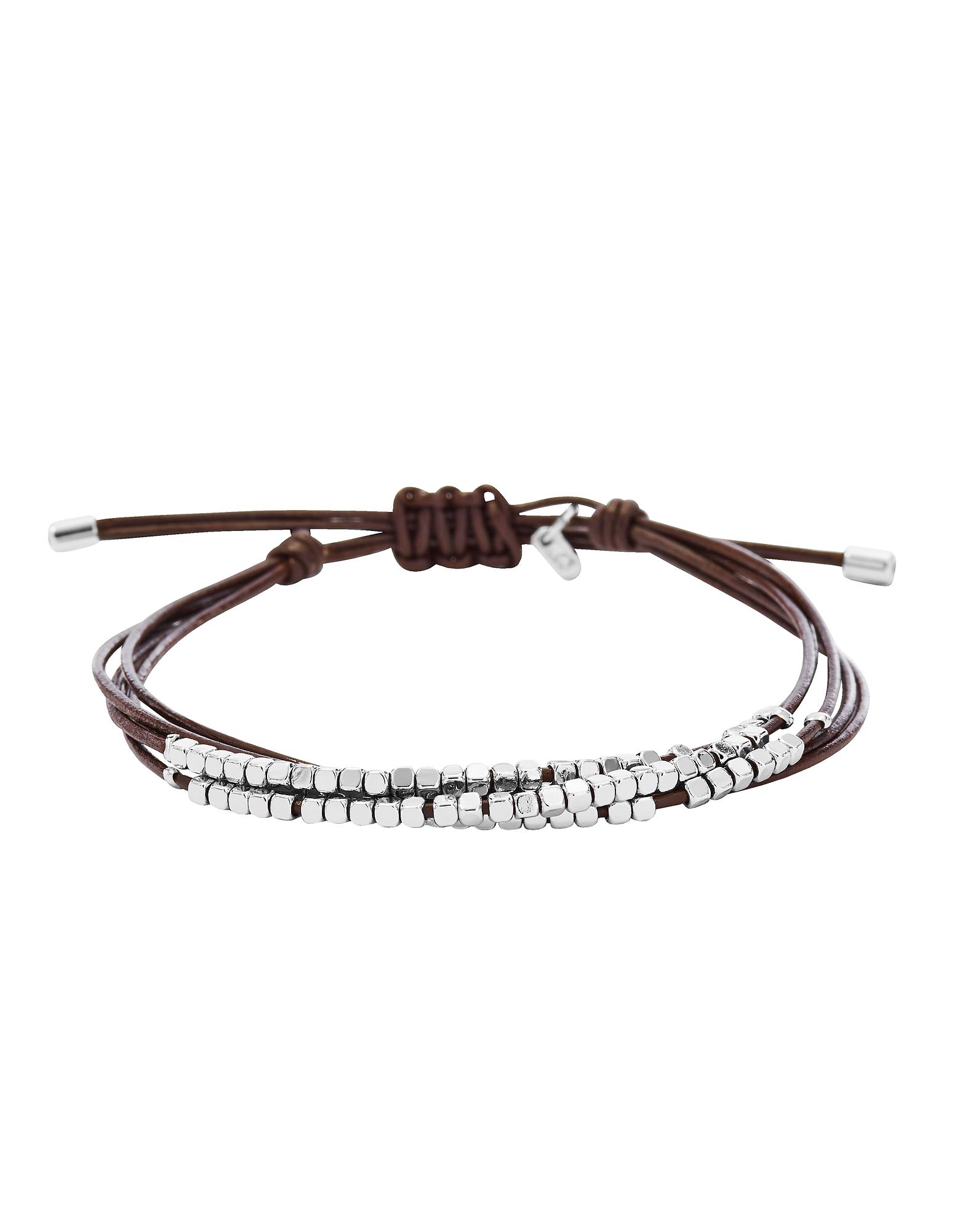 Silver Tone Dainty Rondel Slider Women's Bracelet