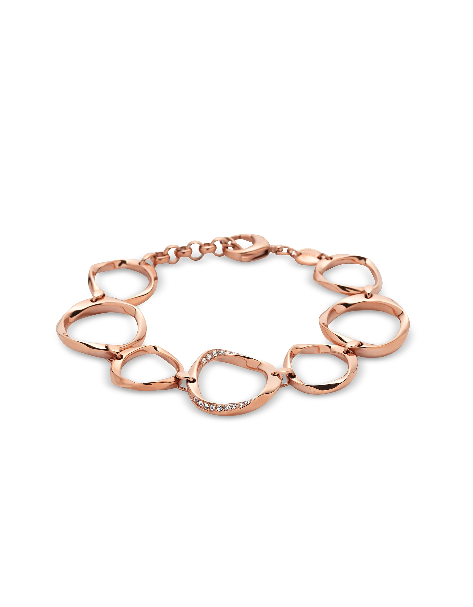 Fossil Bracelets, Circle Rose Gold Women's Bracelet