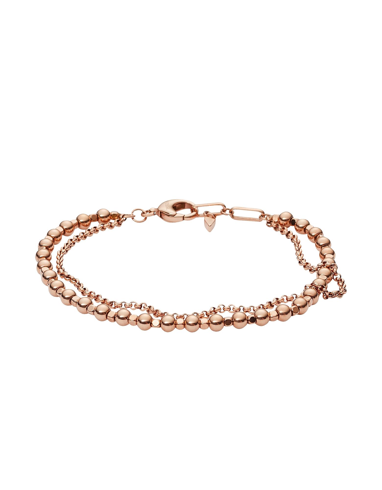 Fossil Bracelets, Women's Rose-Gold Multi-Beaded Bracelet