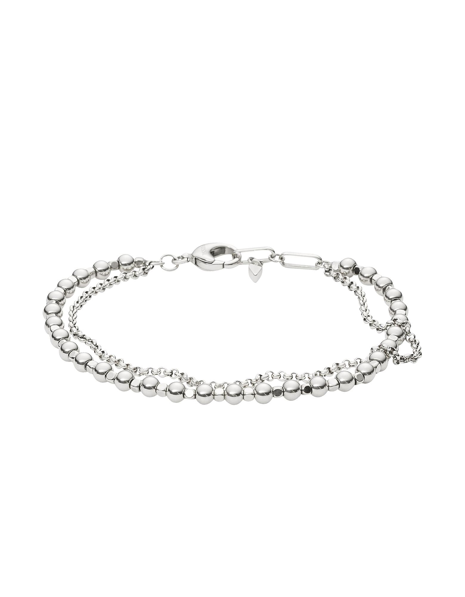 Women's Silver-Tone Multi-Beaded Bracelet