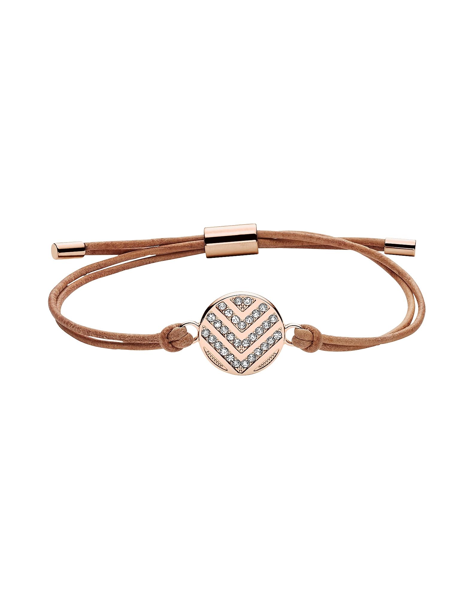 Fossil Bracelets, Women's Chevron Glitz Bracelet