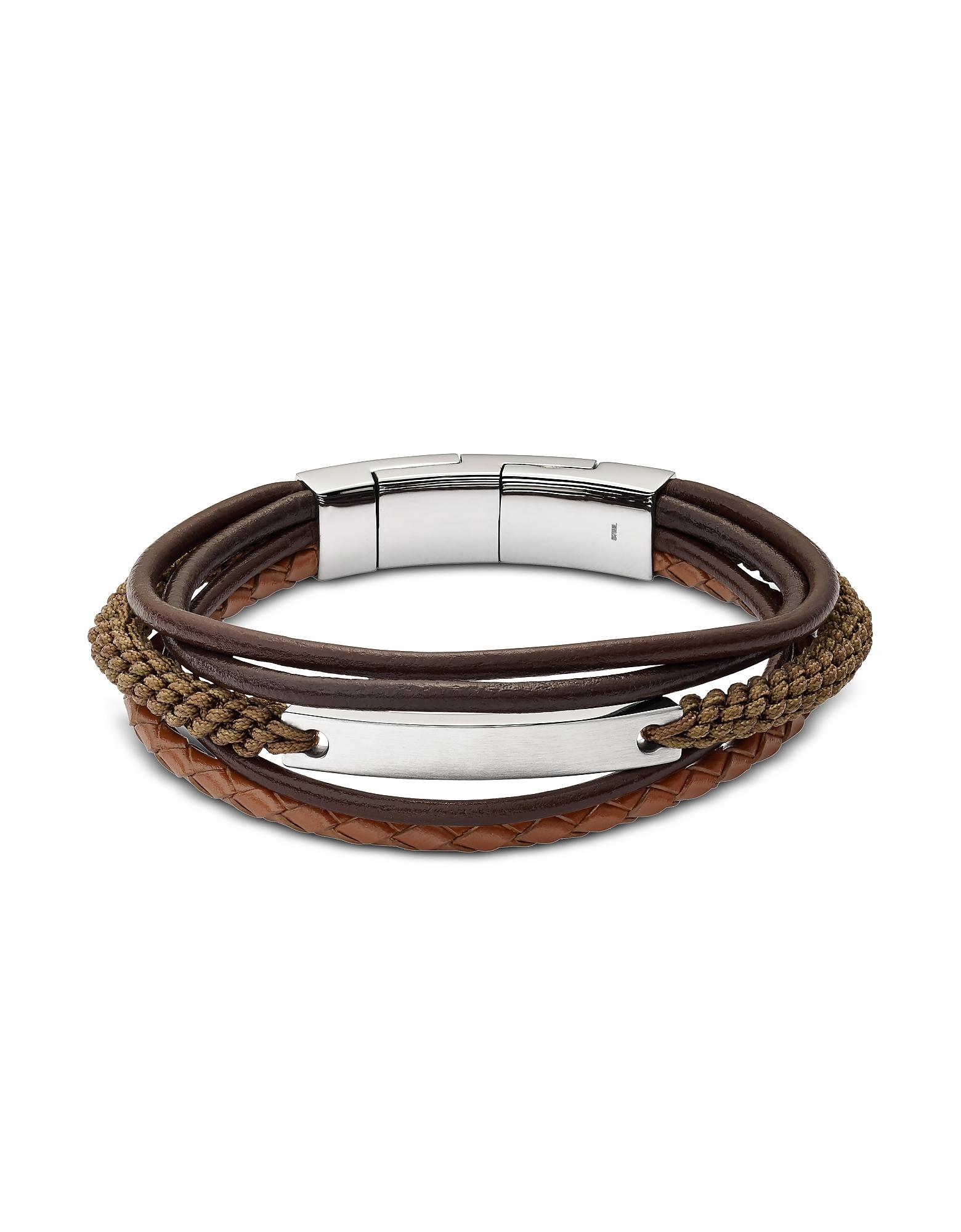 Vintage Casual Dark Brown Multi-Strand Men's Bracelet