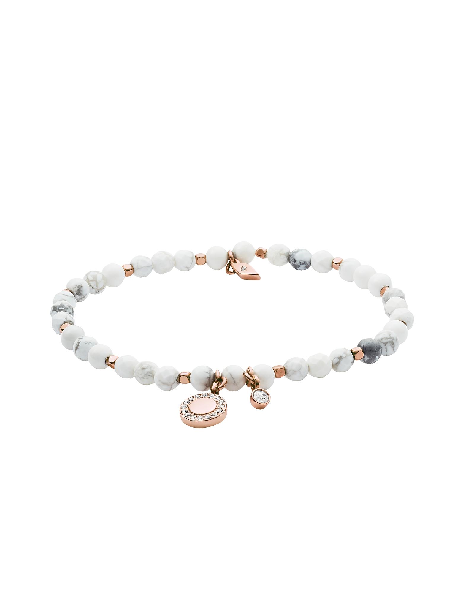Fossil Bracelets, Women's Wellness White Semi-Precious Bracelet