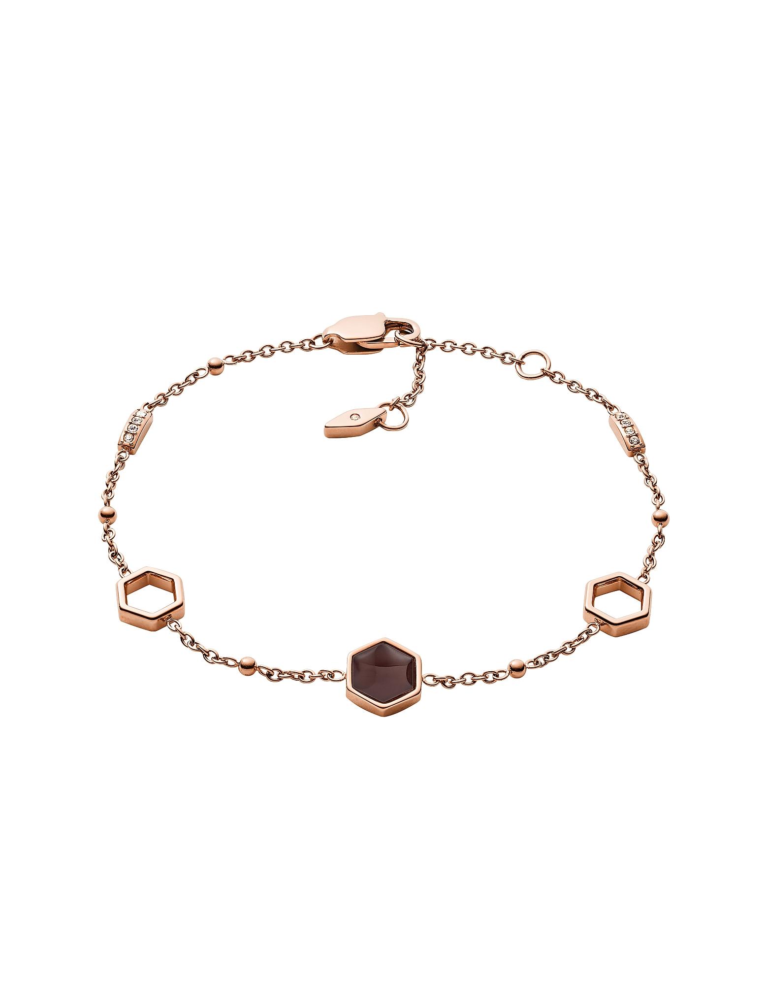 Geometric Rose Gold Tone Bracelet