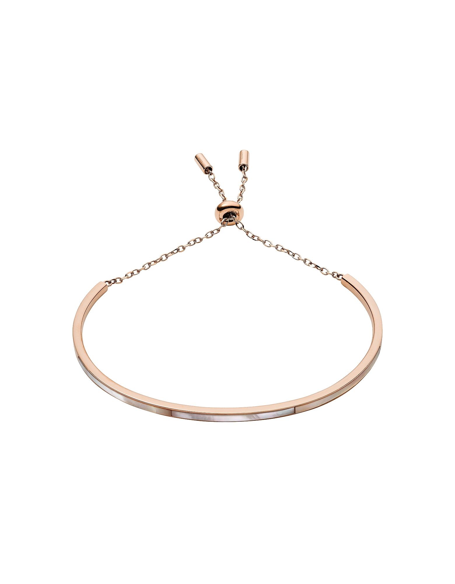 Mother of Pearl Bar Rose Gold Tone Bracelet
