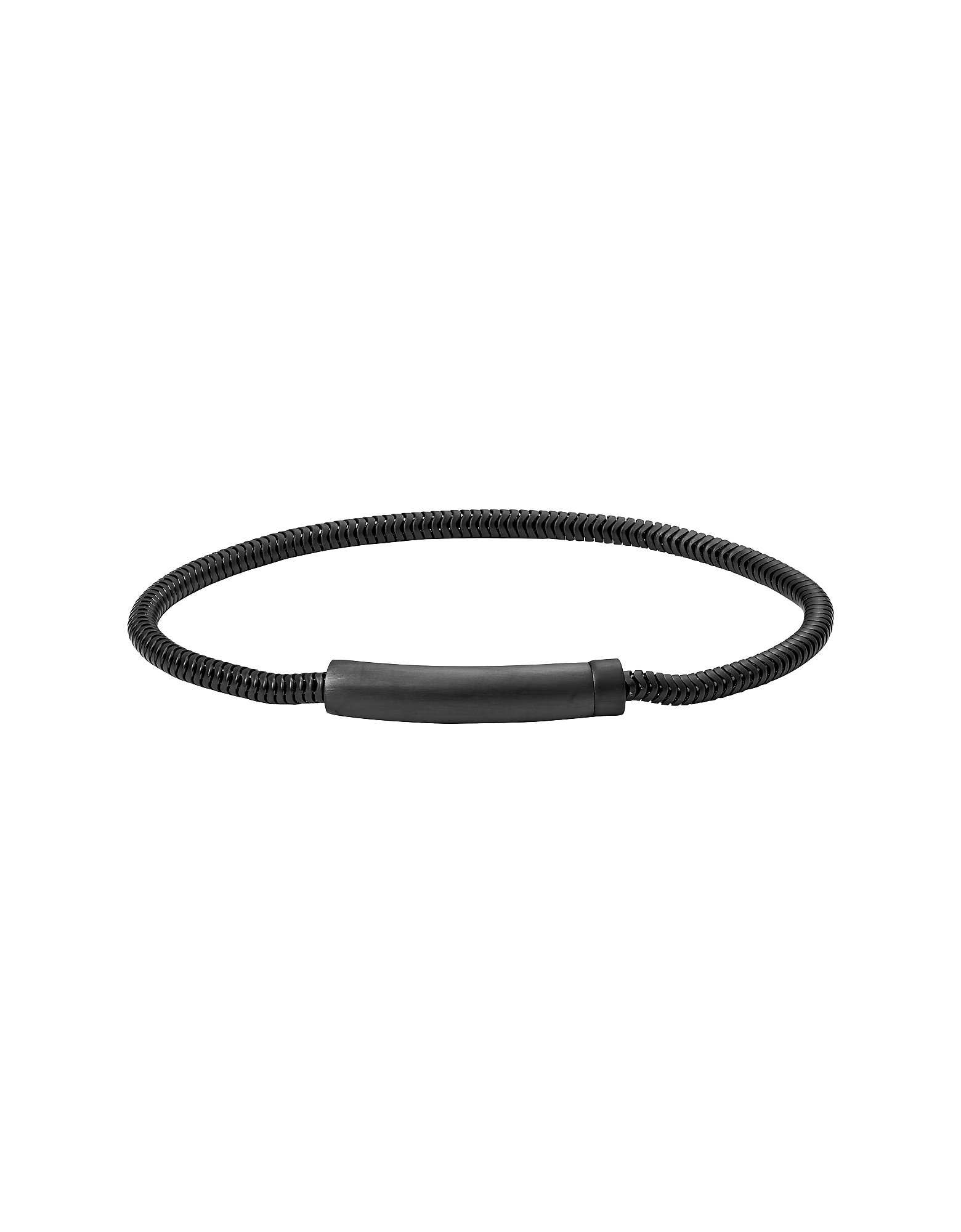 Snake Chain Black Stainless Steel Men's Bracelet