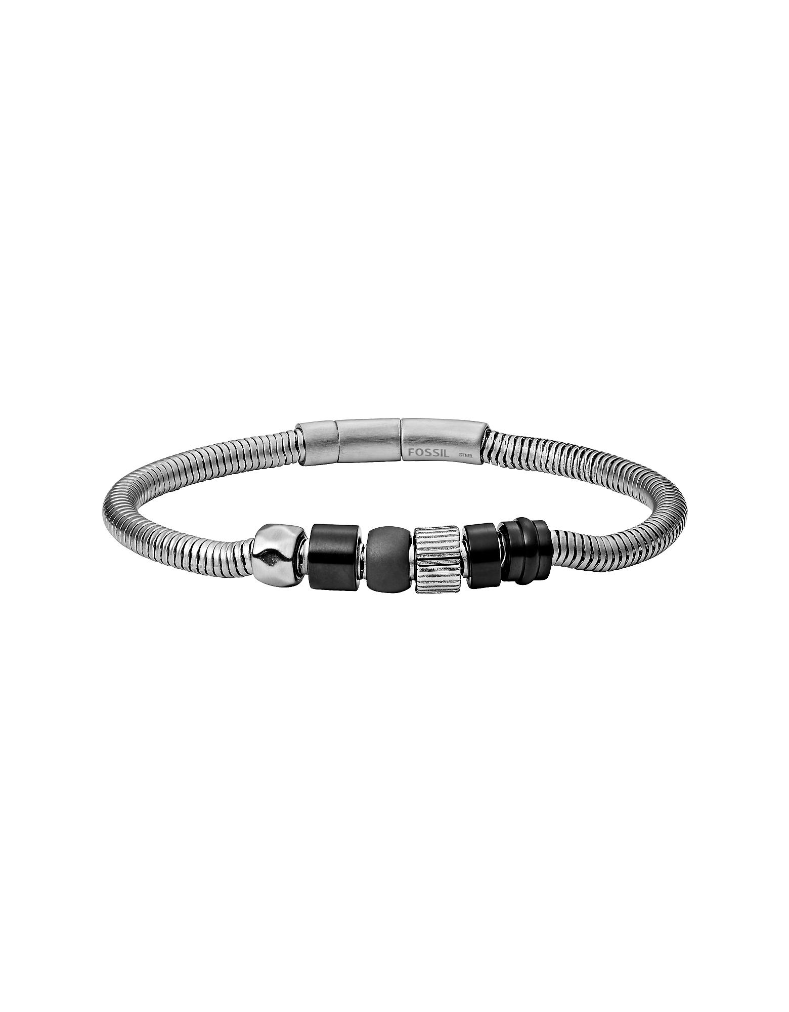 Snake Black Agate Men's Bracelet
