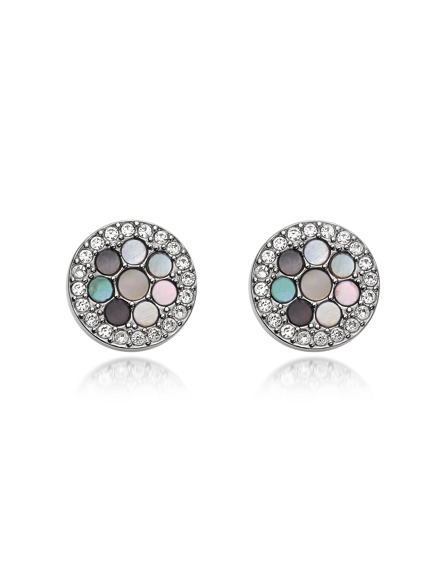 Fossil Earrings, Vintage Glitz Crystal Studs Women's Earring