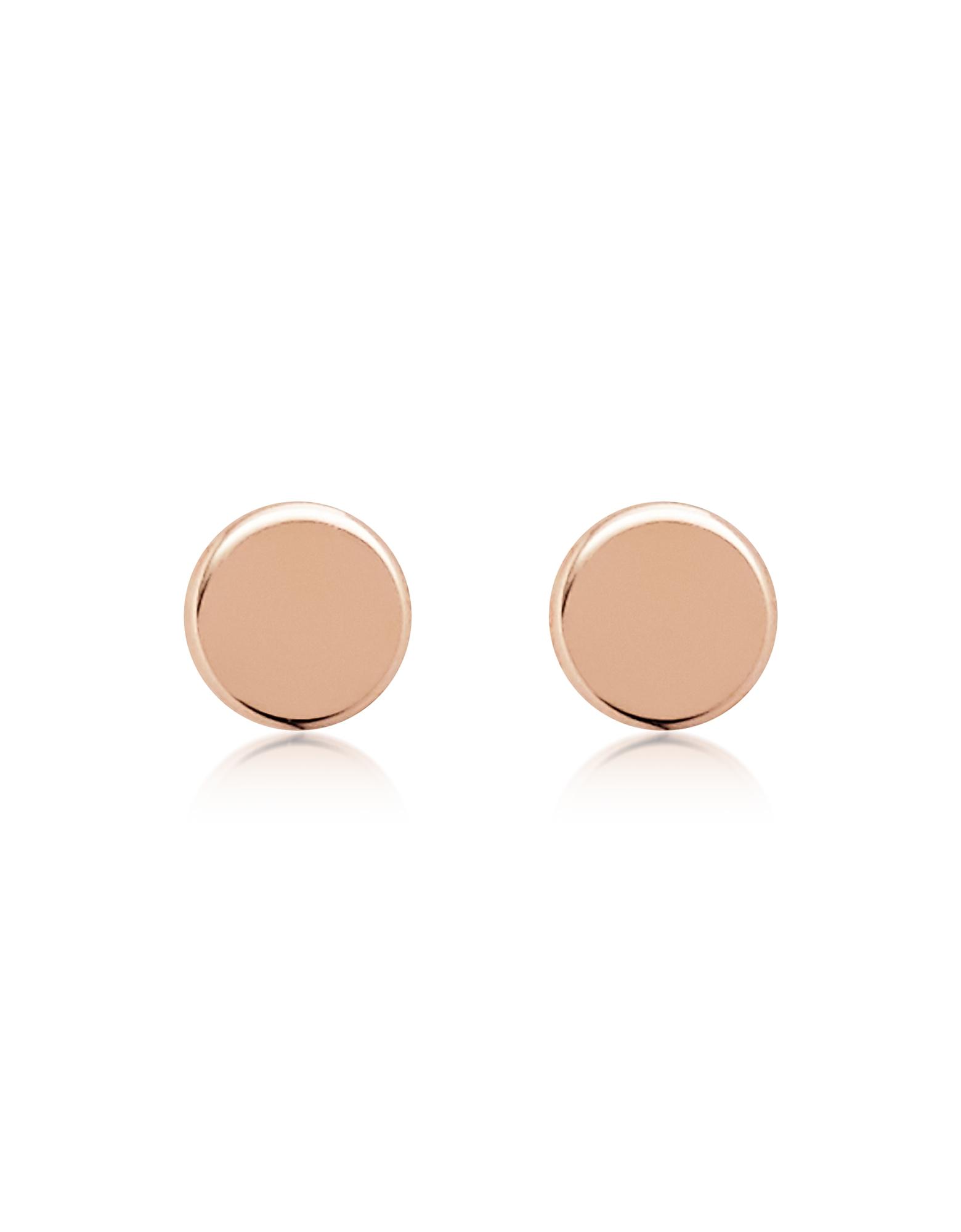 Fossil Earrings, Rose Gold Tone Round Stud Earrings