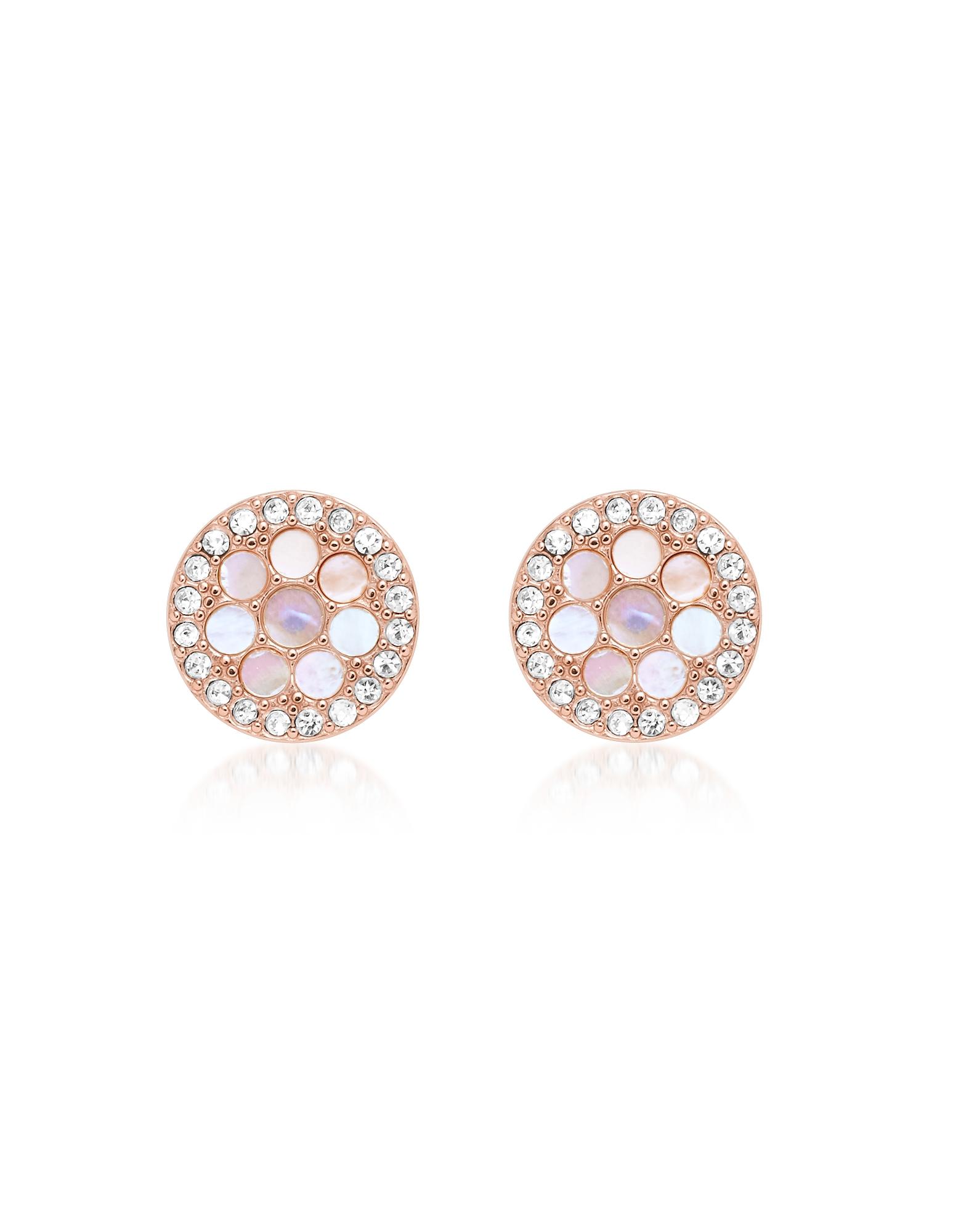 Vintage Glitz Rose Gold Tone Studs Earrings