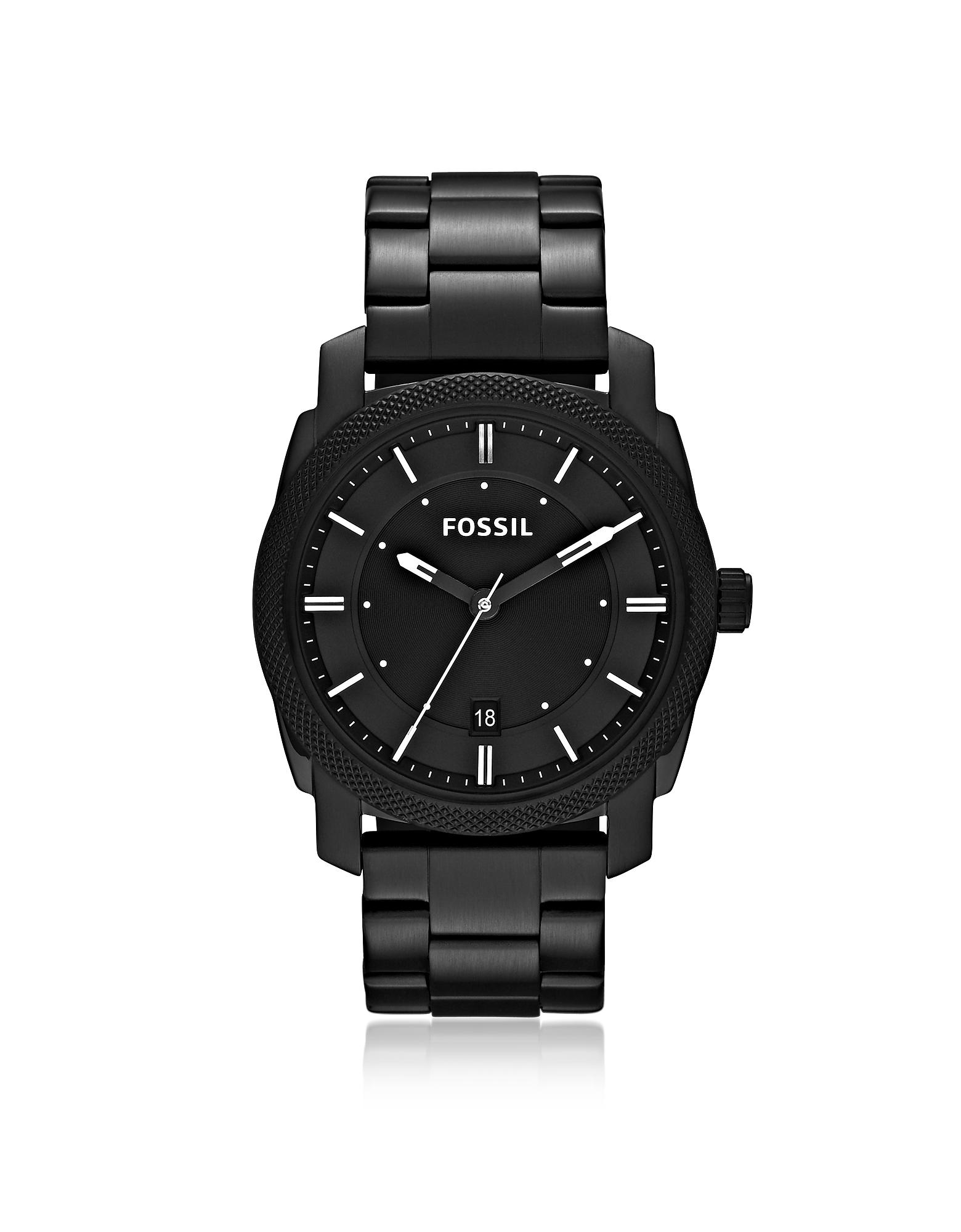 Fossil Men's Watches, Machine Black Stainless Steel Men's Watch