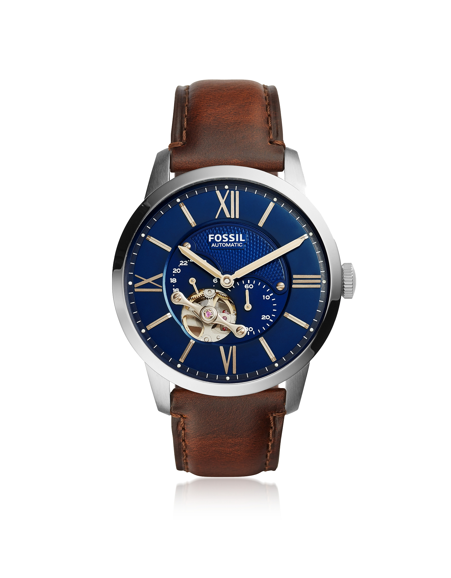 Townsman Automatic Brown Leather and Blue Dial Men's Watch