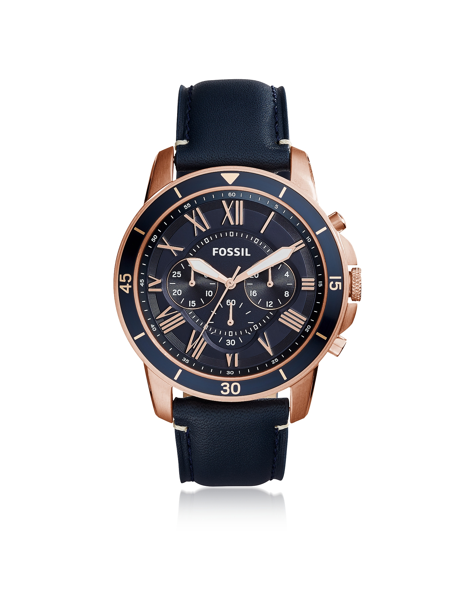 Fossil Men's Watches, Grant Sport Chronograph Blue Leather Men's Watch