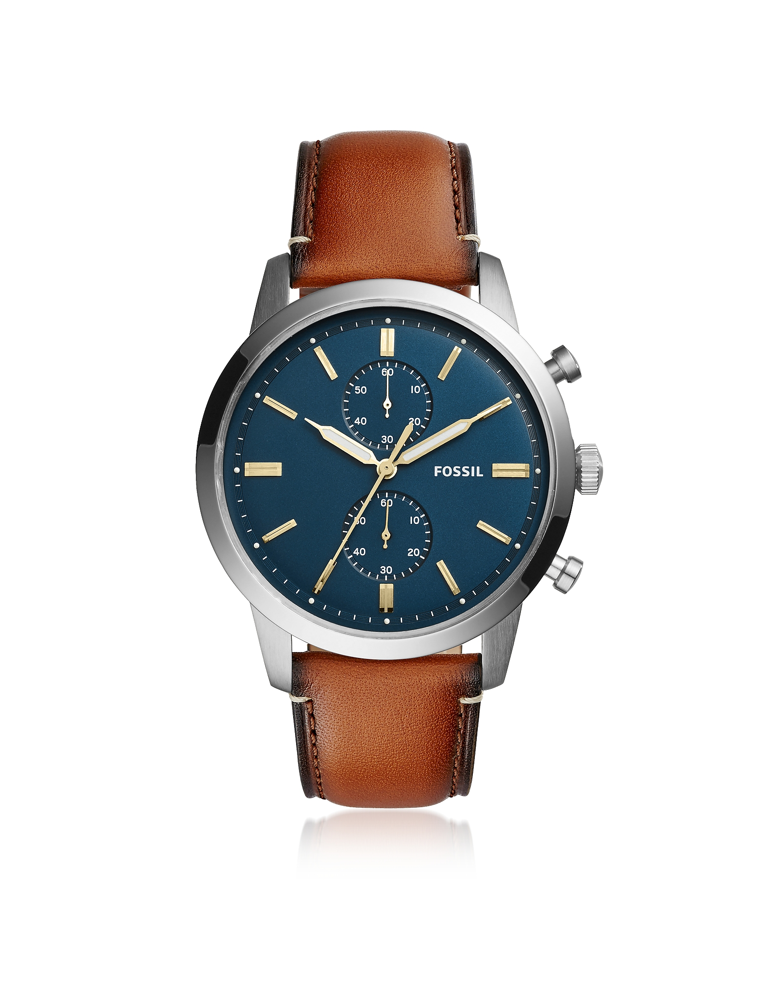 Townsman 44mm Chronograph Luggage Leather Men's Watch