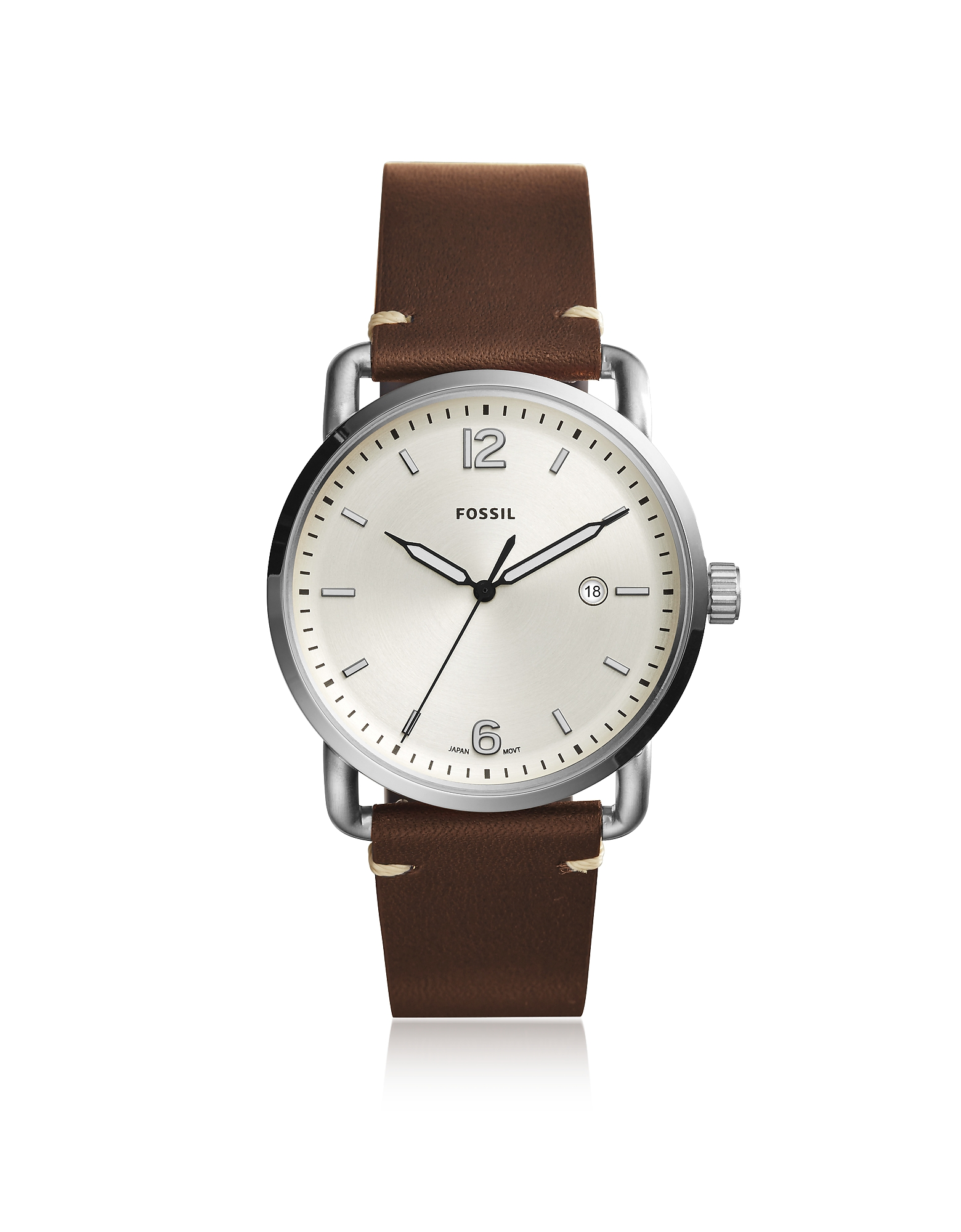 The Commuter Three-Hand Date Brown Leather Men's Watch