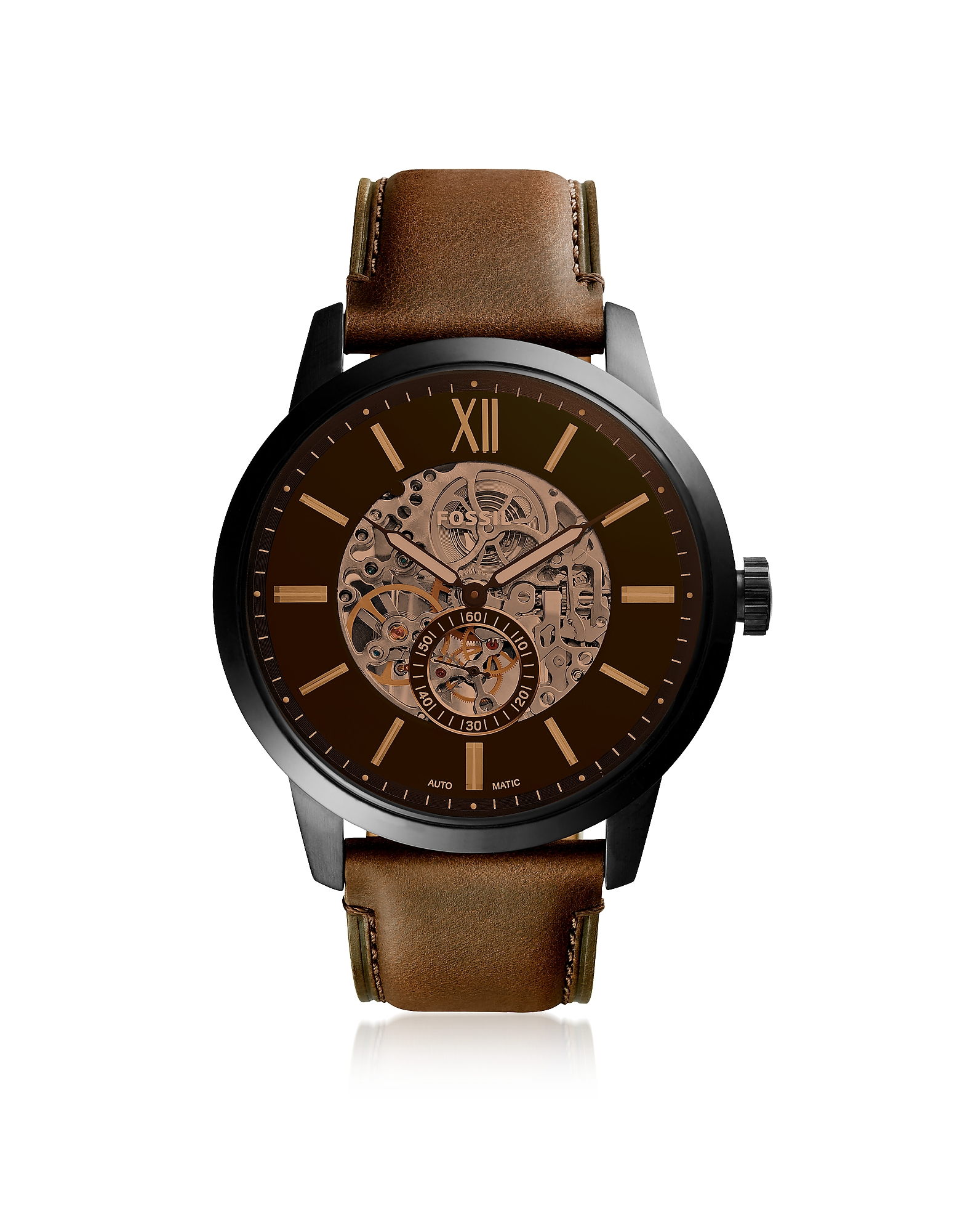 Townsman 48mm Automatic Brown Leather Men's Watch