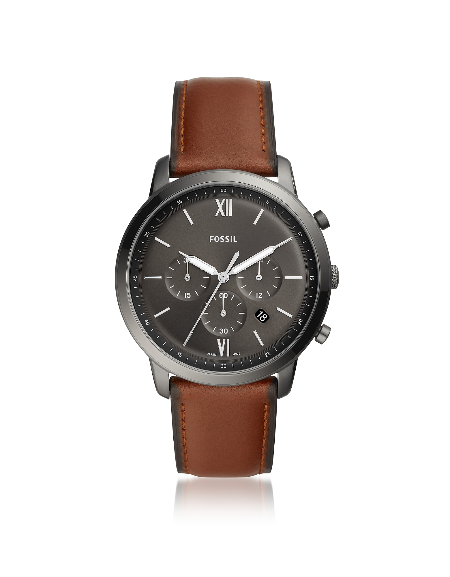 Neutra Chronograph Vintage Brown Leather Watch