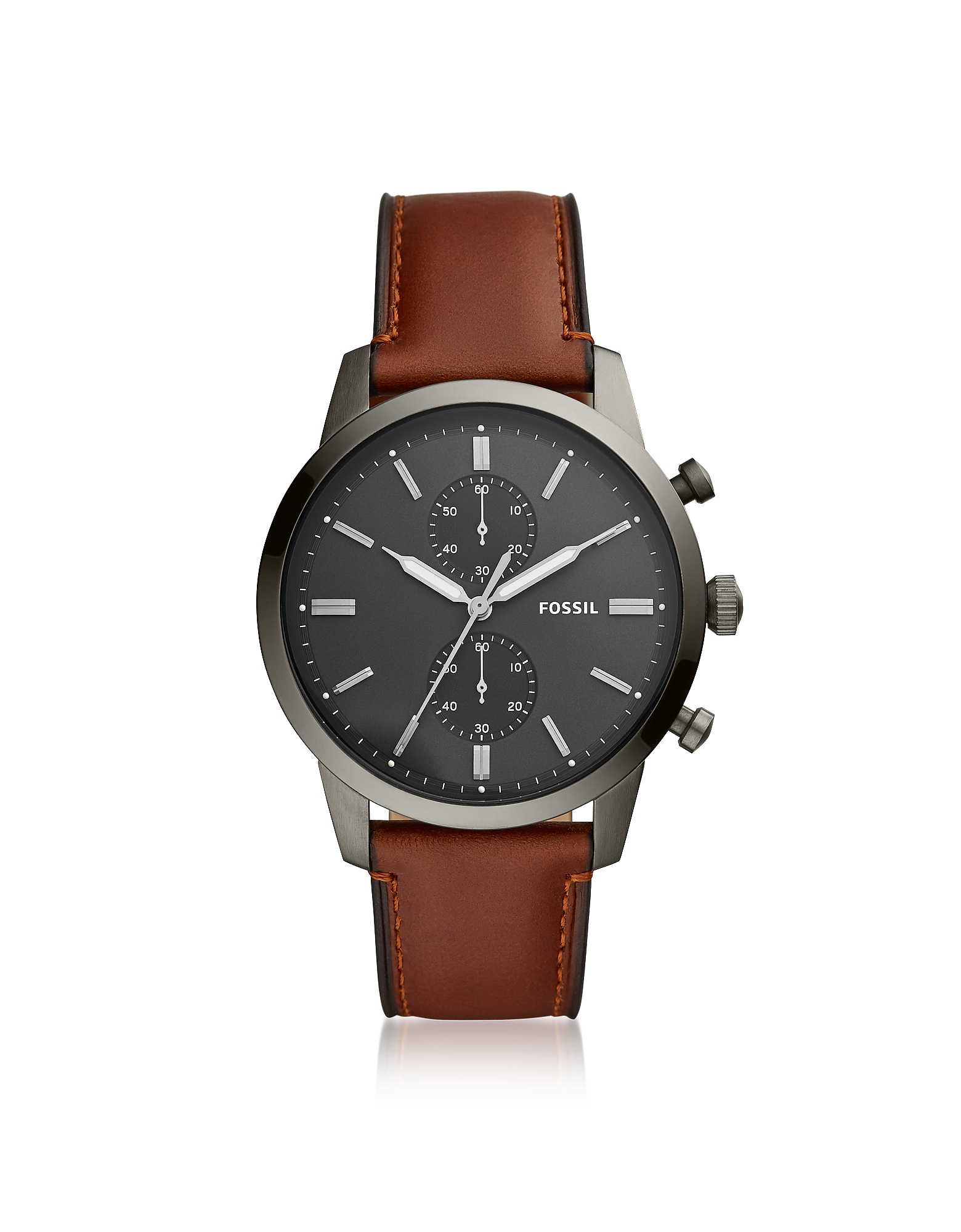 Townsman Chronograph Brown Leather Men's Watch