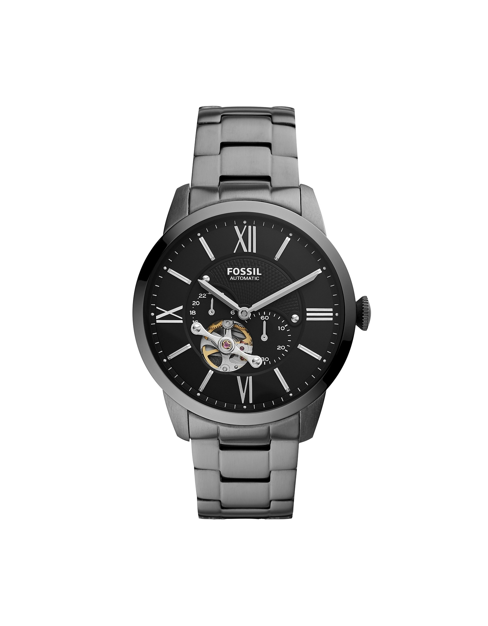Fossil Designer Men's Watches, Townsman Automatic Stainless Steel Men's Watch