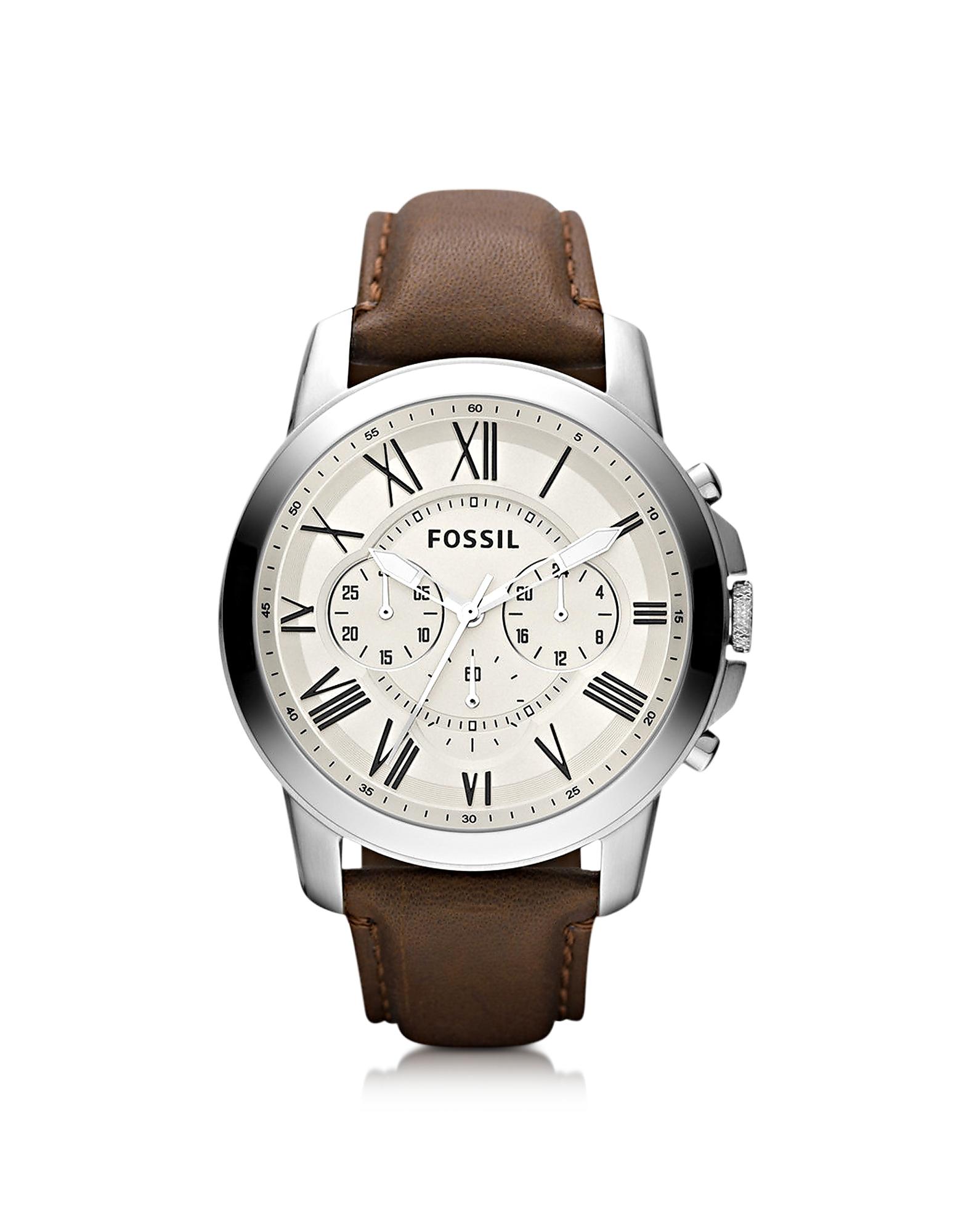 Grant - Мужские Часы Хронограф на Кожаном Ремешке