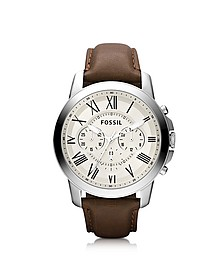 Grant Chronograph Leather Men's Watch - Fossil
