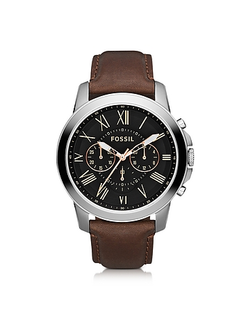 Fossil - Grant Chronograph Leather Men's Watch